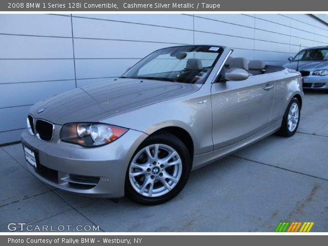 cashmere silver metallic 2008 bmw 1 series 128i convertible taupe interior. Black Bedroom Furniture Sets. Home Design Ideas