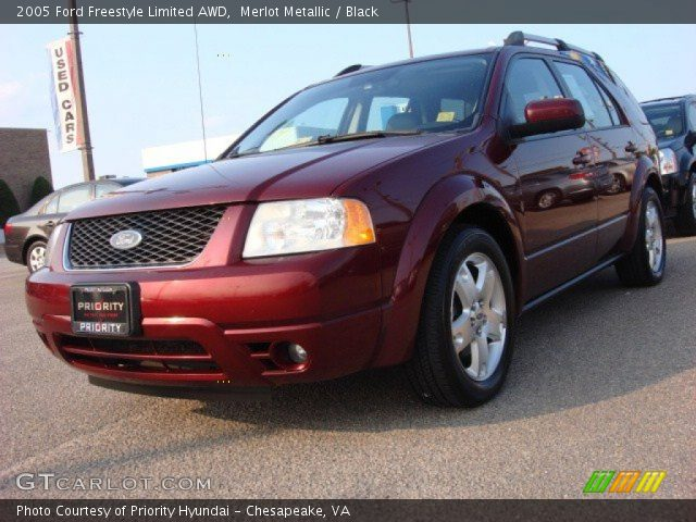 merlot metallic 2005 ford freestyle limited awd black. Black Bedroom Furniture Sets. Home Design Ideas