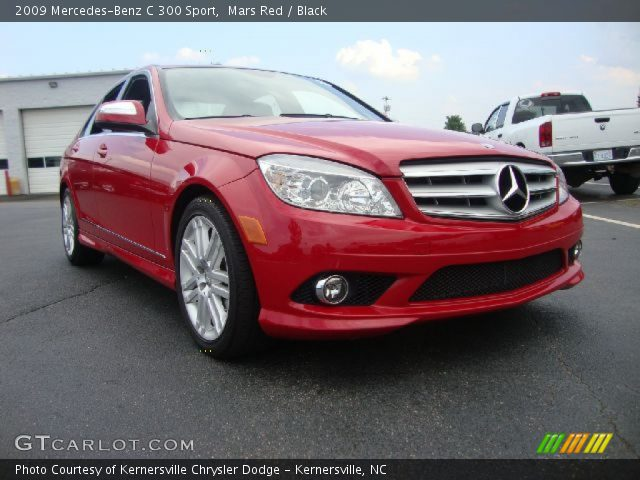 Mars red 2009 mercedes benz c 300 sport black interior for 2009 mercedes benz c 300