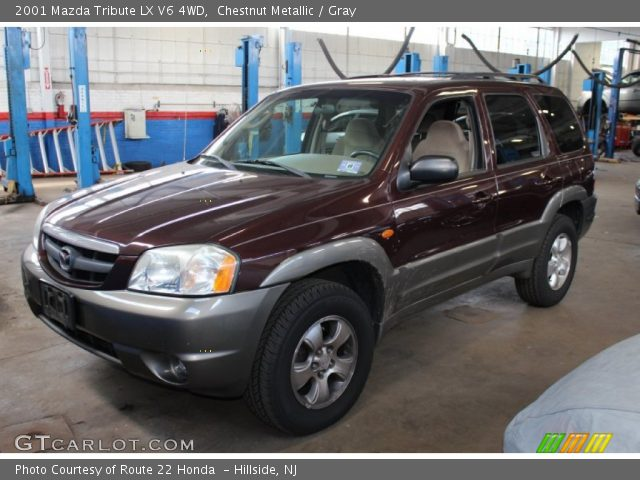 chestnut metallic 2001 mazda tribute lx v6 4wd gray interior vehicle. Black Bedroom Furniture Sets. Home Design Ideas
