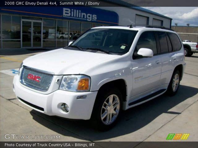 summit white 2008 gmc envoy denali 4x4 ebony interior. Black Bedroom Furniture Sets. Home Design Ideas