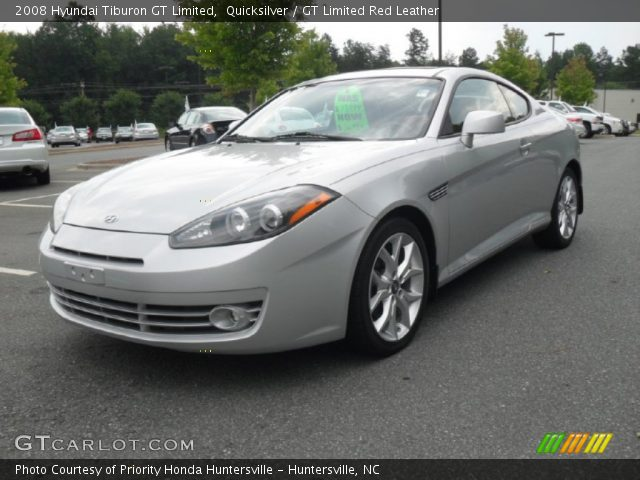 quicksilver 2008 hyundai tiburon gt limited gt limited red leather interior. Black Bedroom Furniture Sets. Home Design Ideas
