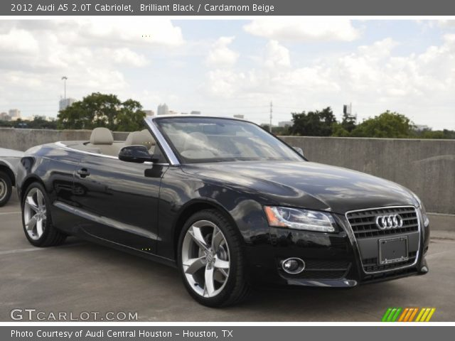 2012 Audi A5 2.0T Cabriolet in Brilliant Black. Click to see large