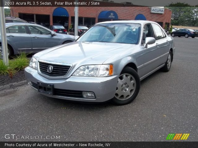 polar blue metallic 2003 acura rl 3 5 sedan slate. Black Bedroom Furniture Sets. Home Design Ideas