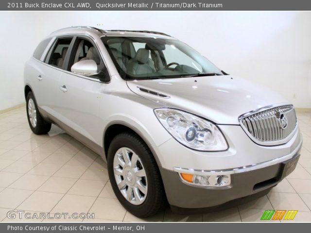 Quicksilver Metallic 2011 Buick Enclave Cxl Awd Titanium Dark Titanium Interior Gtcarlot