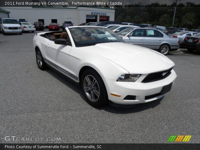 performance white 2011 ford mustang v6 convertible. Black Bedroom Furniture Sets. Home Design Ideas