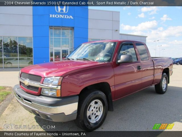sport red metallic 2004 chevrolet silverado 1500 lt extended cab 4x4 dark charcoal interior. Black Bedroom Furniture Sets. Home Design Ideas