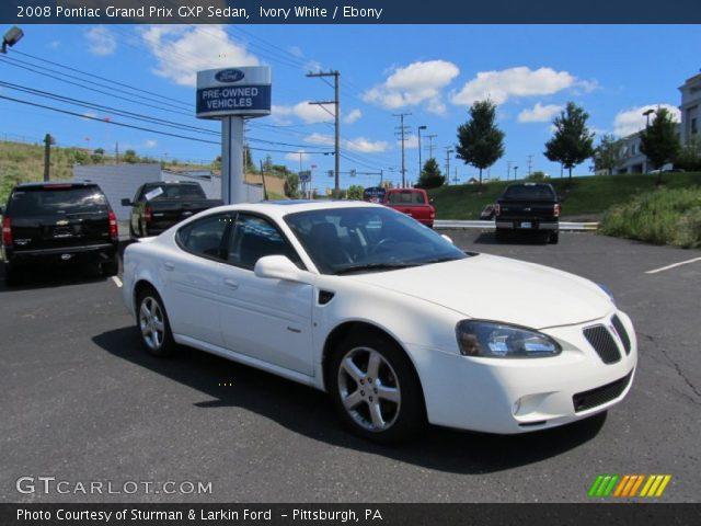 ivory white 2008 pontiac grand prix gxp sedan ebony interior vehicle. Black Bedroom Furniture Sets. Home Design Ideas