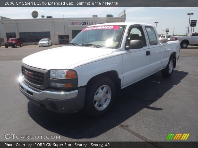summit white 2006 gmc sierra 1500 extended cab neutral. Black Bedroom Furniture Sets. Home Design Ideas