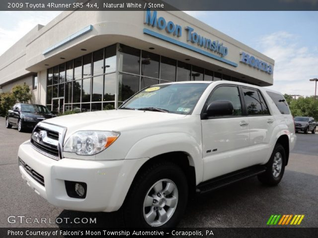 natural white 2009 toyota 4runner sr5 4x4 stone interior vehicle archive. Black Bedroom Furniture Sets. Home Design Ideas