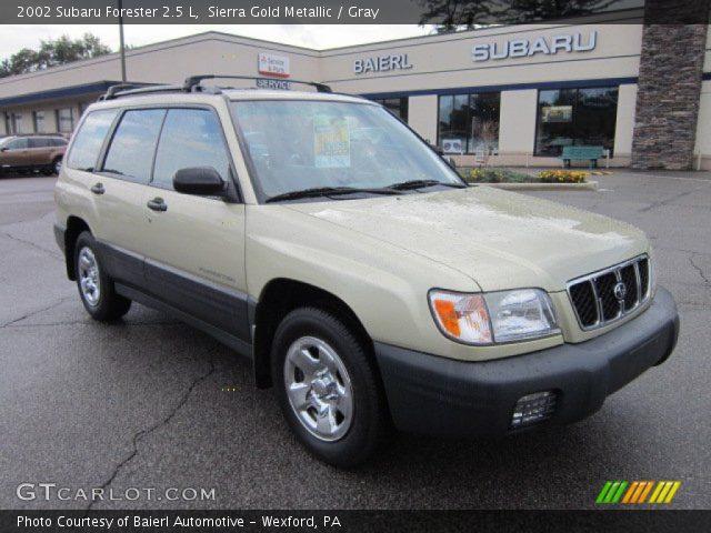 Sierra Gold Metallic 2002 Subaru Forester 2 5 L Gray Interior Vehicle