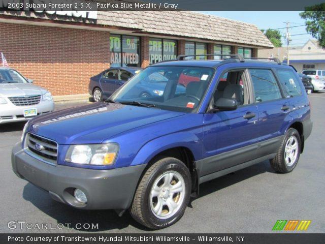 pacifica blue metallic 2003 subaru forester 2 5 x gray interior vehicle. Black Bedroom Furniture Sets. Home Design Ideas