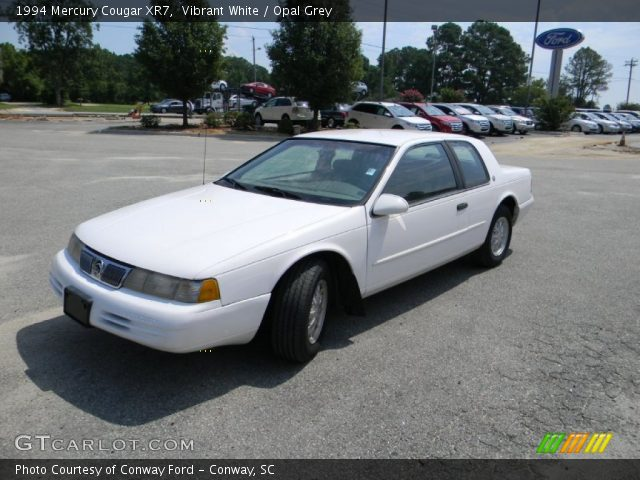 vibrant white 1994 mercury cougar xr7 opal grey interior gtcarlot com vehicle archive 53064441 gtcarlot com