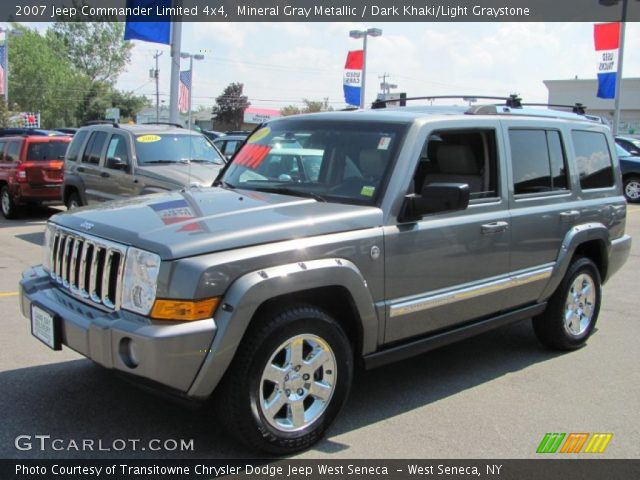 mineral gray metallic 2007 jeep commander limited 4x4. Black Bedroom Furniture Sets. Home Design Ideas