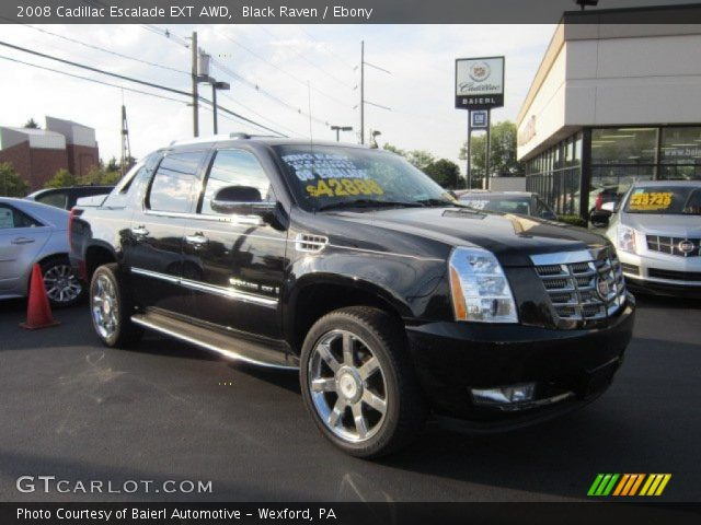 black raven 2008 cadillac escalade ext awd ebony interior vehicle archive. Black Bedroom Furniture Sets. Home Design Ideas
