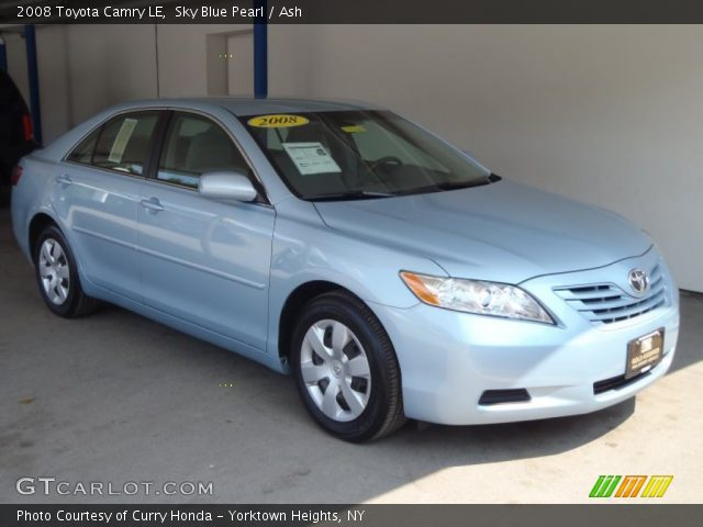 sky blue pearl 2008 toyota camry le ash interior vehicle archive 53117537. Black Bedroom Furniture Sets. Home Design Ideas