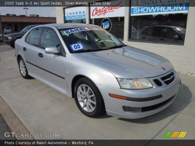 silver metallic 2005 saab 9 3 arc sport sedan slate gray interior vehicle. Black Bedroom Furniture Sets. Home Design Ideas