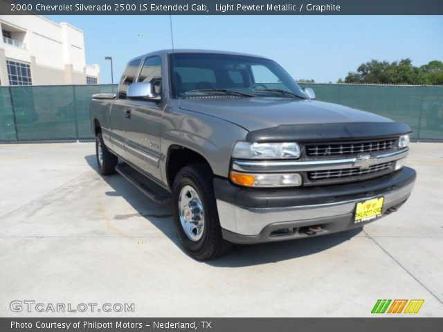 light pewter metallic 2000 chevrolet silverado 2500 ls extended cab graphite interior. Black Bedroom Furniture Sets. Home Design Ideas