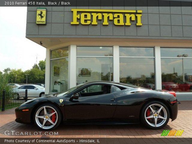 Black 2010 Ferrari 458 Italia Black Interior Gtcarlot