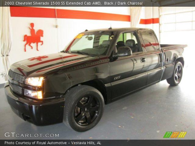 Black - 2003 Chevrolet Silverado 1500 SS Extended Cab AWD ...