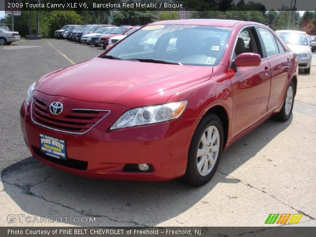 barcelona red metallic 2009 toyota camry xle v6 bisque interior vehicle. Black Bedroom Furniture Sets. Home Design Ideas