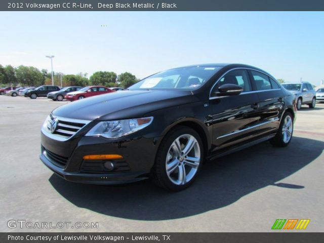 deep black metallic 2012 volkswagen cc r line black interior vehicle. Black Bedroom Furniture Sets. Home Design Ideas