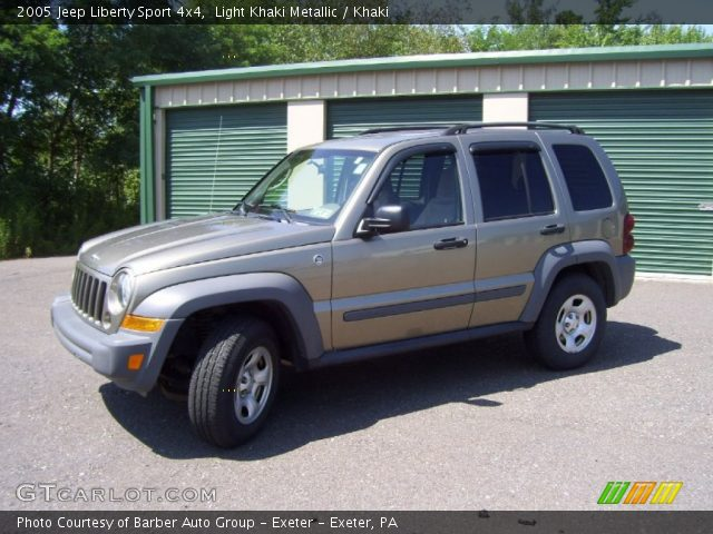 light khaki metallic 2005 jeep liberty sport 4x4 khaki. Black Bedroom Furniture Sets. Home Design Ideas