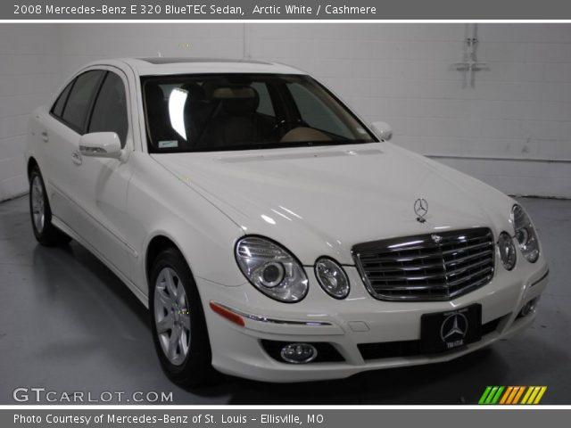 arctic white 2008 mercedes benz e 320 bluetec sedan cashmere interior. Black Bedroom Furniture Sets. Home Design Ideas