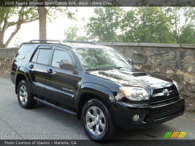 black 2008 toyota 4runner sport edition 4x4 stone gray interior vehicle. Black Bedroom Furniture Sets. Home Design Ideas