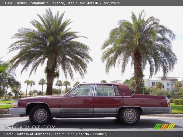 1990 Cadillac Brougham d'Elegance in Maple Red Metallic