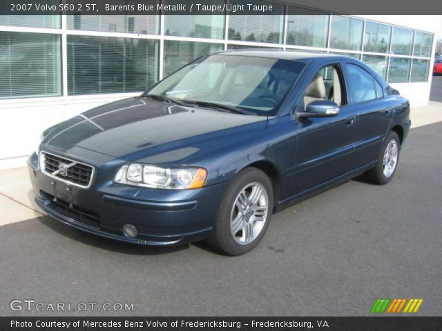 barents blue metallic 2007 volvo s60 2 5t taupe light taupe interior. Black Bedroom Furniture Sets. Home Design Ideas