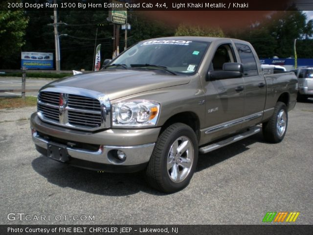 light khaki metallic 2008 dodge ram 1500 big horn edition quad cab 4x4 khaki interior. Black Bedroom Furniture Sets. Home Design Ideas