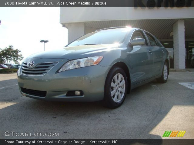 aloe green metallic 2008 toyota camry xle v6 bisque. Black Bedroom Furniture Sets. Home Design Ideas