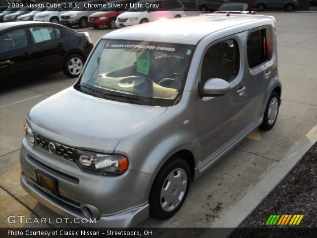 chrome silver 2009 nissan cube 1 8 s light gray interior vehicle archive. Black Bedroom Furniture Sets. Home Design Ideas