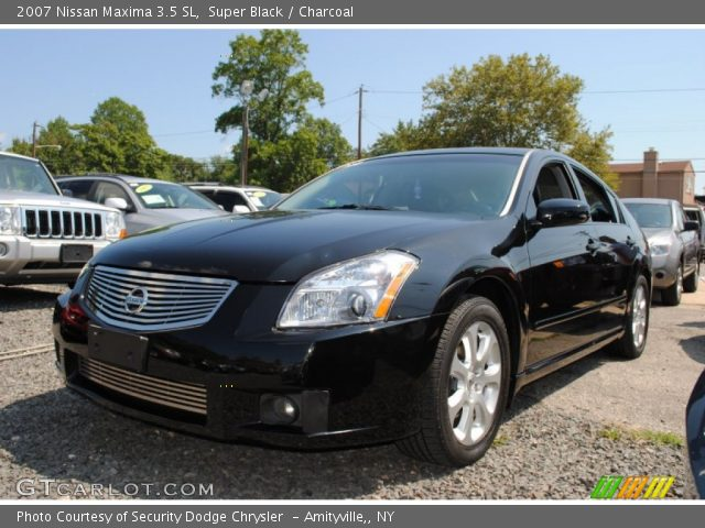 super black 2007 nissan maxima 3 5 sl charcoal interior vehicle archive. Black Bedroom Furniture Sets. Home Design Ideas