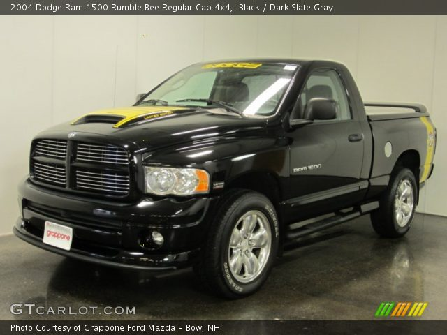 black 2004 dodge ram 1500 rumble bee regular cab 4x4. Black Bedroom Furniture Sets. Home Design Ideas