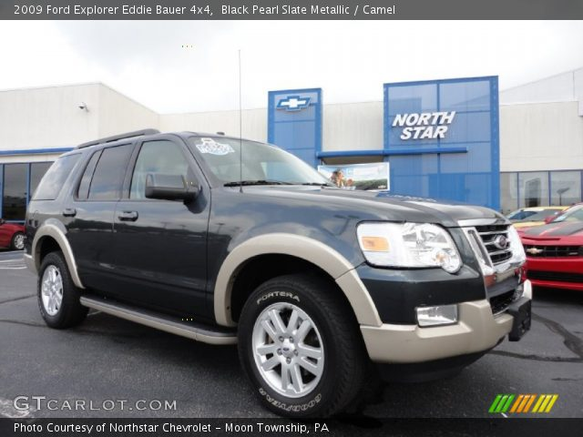 black pearl slate metallic 2009 ford explorer eddie bauer 4x4 camel interior. Black Bedroom Furniture Sets. Home Design Ideas