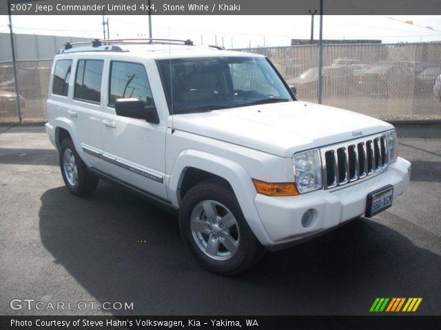 stone white 2007 jeep commander limited 4x4 khaki. Black Bedroom Furniture Sets. Home Design Ideas