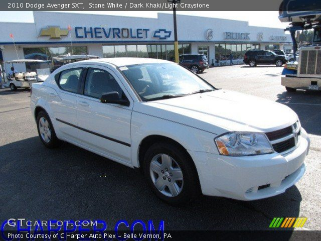 stone white 2010 dodge avenger sxt dark khaki light. Black Bedroom Furniture Sets. Home Design Ideas