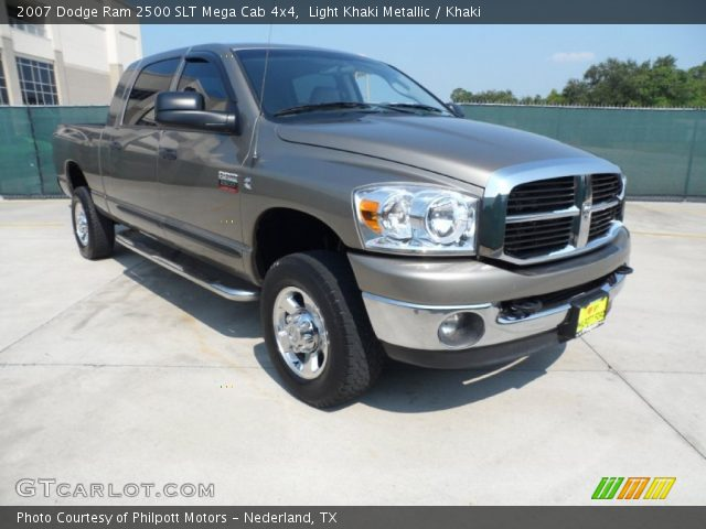 light khaki metallic 2007 dodge ram 2500 slt mega cab. Black Bedroom Furniture Sets. Home Design Ideas