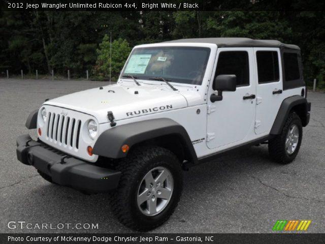 Bright white 2012 jeep wrangler unlimited rubicon 4x4 - 2012 jeep wrangler unlimited interior ...