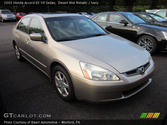 2003 honda accord ex v6 sedan satin silver metallic color. Black Bedroom Furniture Sets. Home Design Ideas