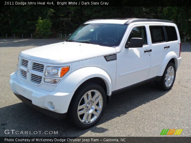bright white 2011 dodge nitro heat 4x4 dark slate gray interior vehicle. Black Bedroom Furniture Sets. Home Design Ideas