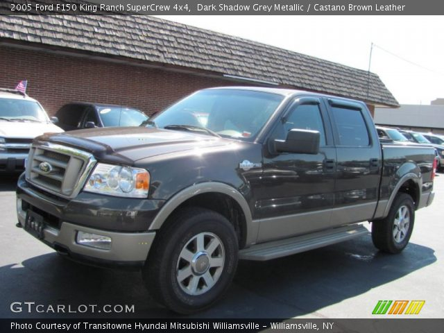 Dark Shadow Grey Metallic 2005 Ford F150 King Ranch Supercrew 4x4 Castano Brown Leather