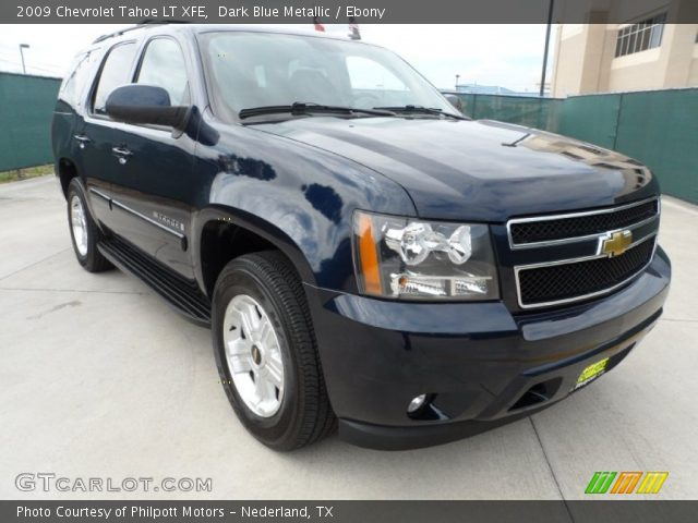 dark blue metallic 2009 chevrolet tahoe lt xfe ebony. Black Bedroom Furniture Sets. Home Design Ideas