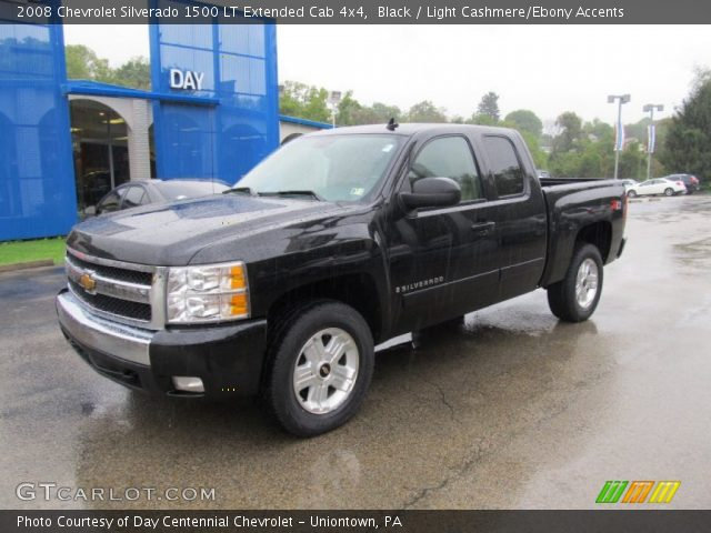 black 2008 chevrolet silverado 1500 lt extended cab 4x4 light cashmere ebony accents. Black Bedroom Furniture Sets. Home Design Ideas