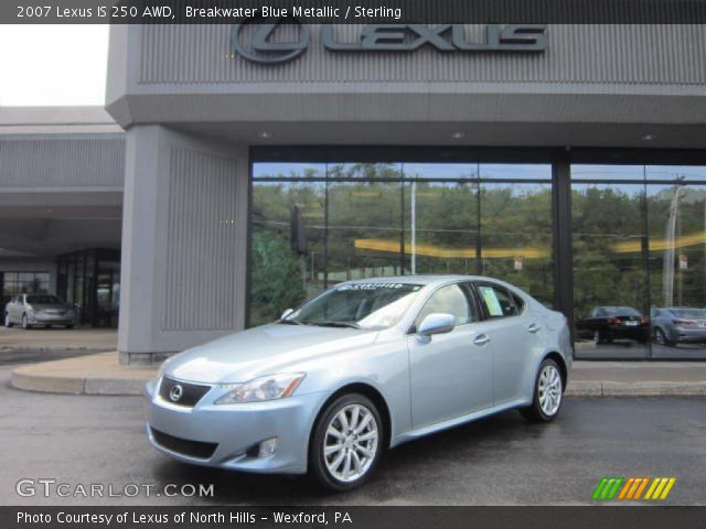 breakwater blue metallic 2007 lexus is 250 awd sterling interior vehicle. Black Bedroom Furniture Sets. Home Design Ideas