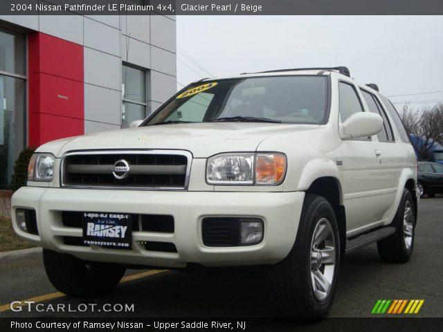Glacier Pearl 2004 Nissan Pathfinder Le Platinum 4x4 Beige Interior Vehicle