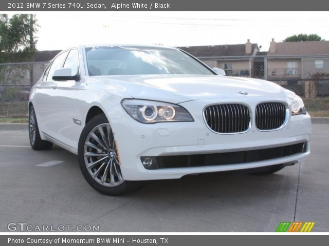 alpine white 2012 bmw 7 series 740li sedan black. Black Bedroom Furniture Sets. Home Design Ideas