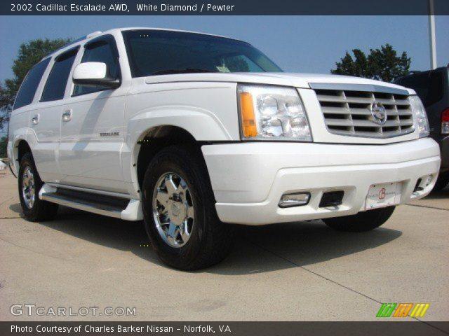 White Diamond 2002 Cadillac Escalade Awd Pewter Interior Vehicle Archive